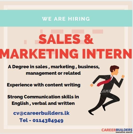 Sales and Marketing Intern