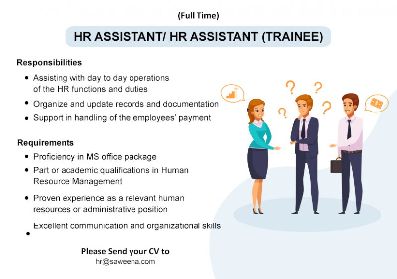 HR Assistant/ HR Trainee