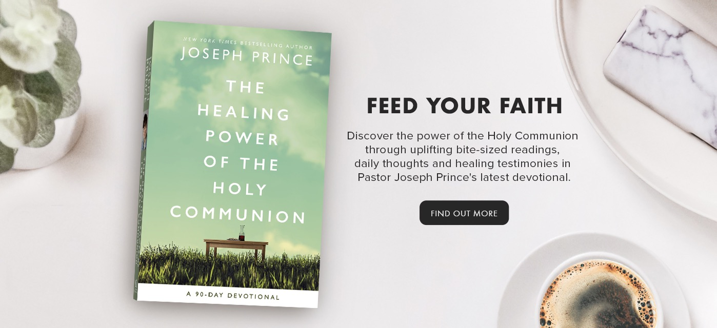 Discover the power of the Holy Communion through uplifting bite-sized readings, daily thoughts and healing testimonies in Pastor Joseph Prince's latest devotional.