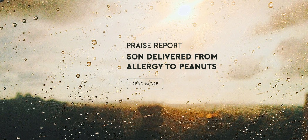 Son Delivered From Allergy To Peanuts