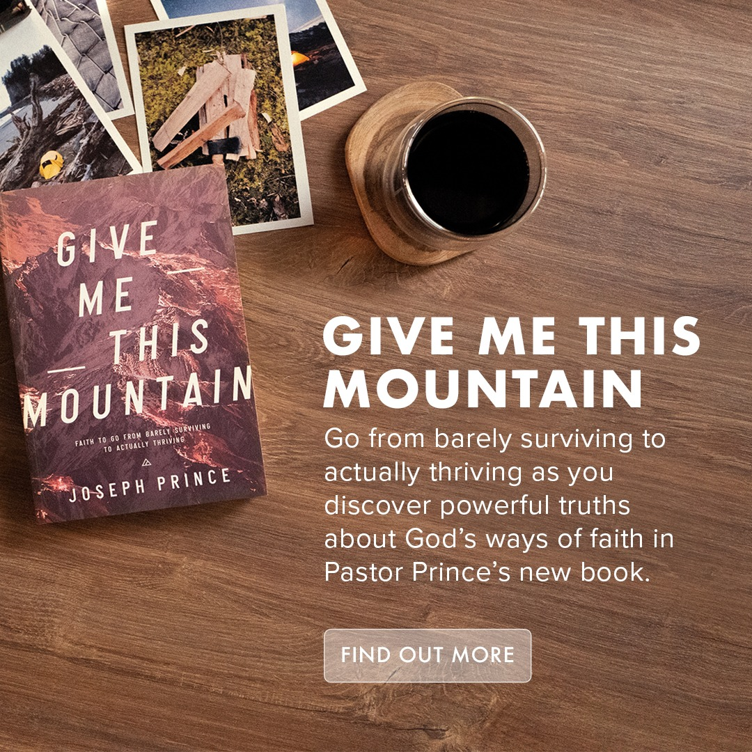 Go from barely surviving to actually thriving as you discover powerful truths about God's ways of faith in Pastor Prince's new book, Give Me This Mountain.