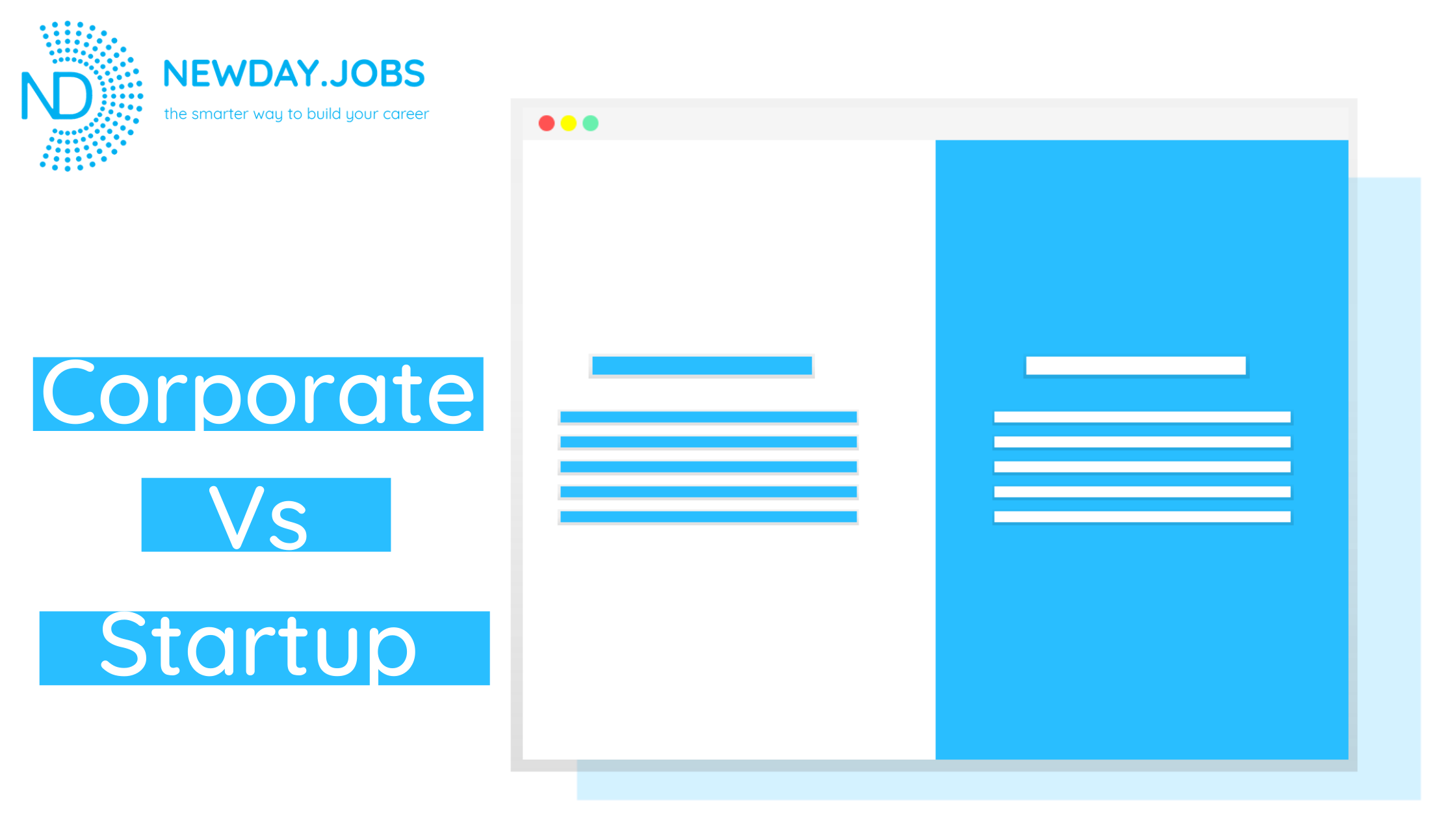 Corporate Vs Startup | Blog from New Day Jobs