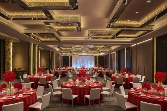New World Wuhan Hotel - Ballroom Wedding Setup