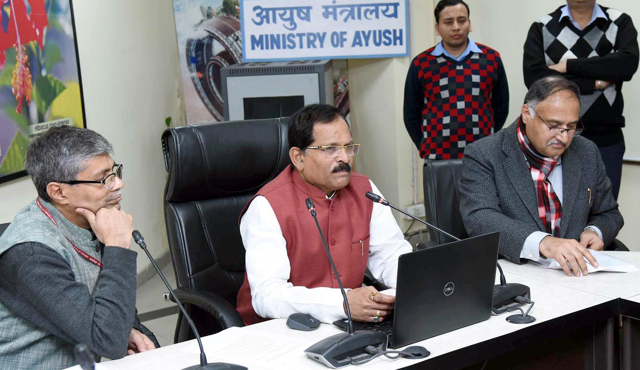 Launch of E-Drug portal for online license system of AYUSH drugs
