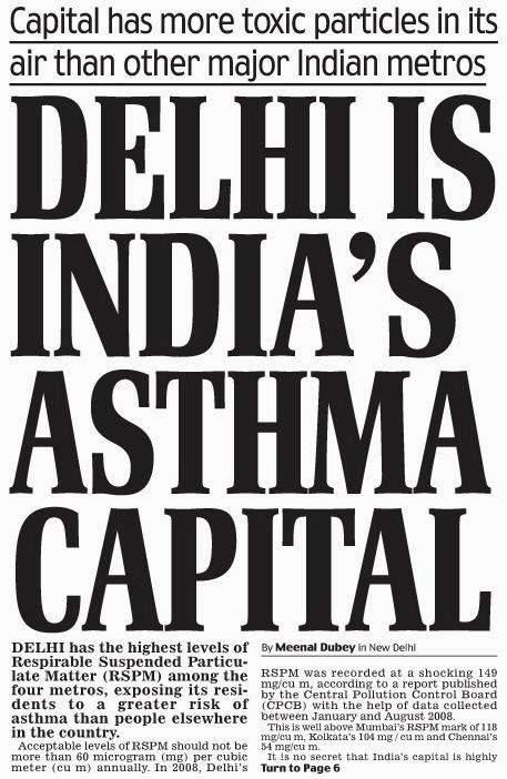 delhi air is poisonous for asthma patients