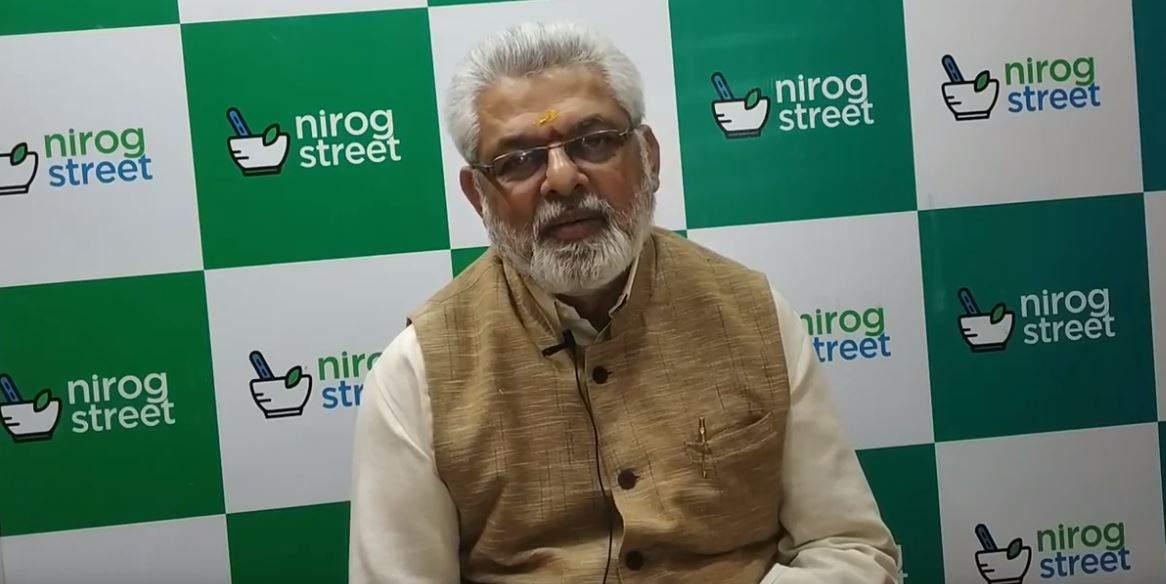 Dr. G G Gangadharan, President ,  CISSA visiting NirogStreet