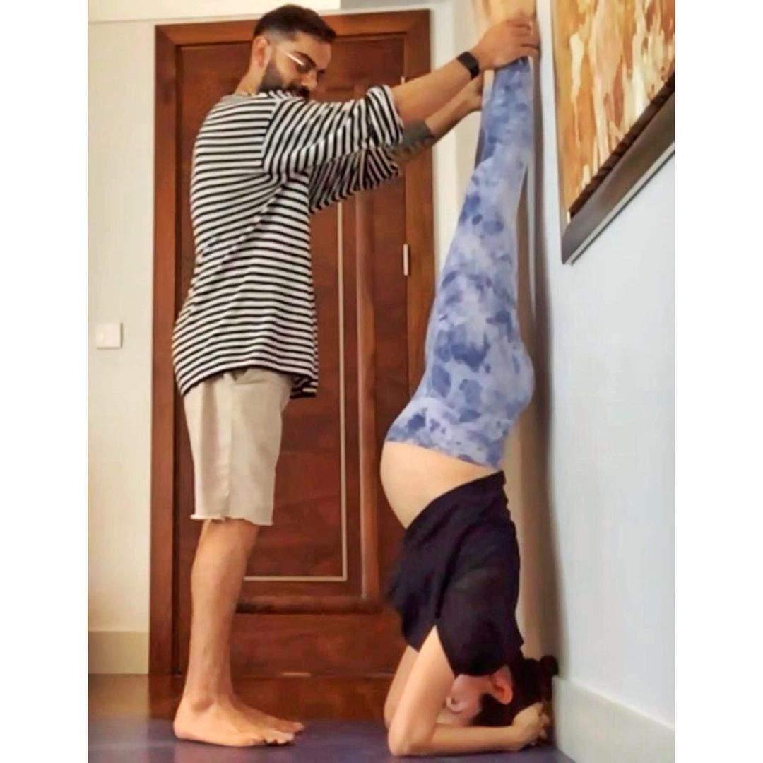 Pregnant Anushka Sharma does Shirshasana, Sets Major Fitness Goals
