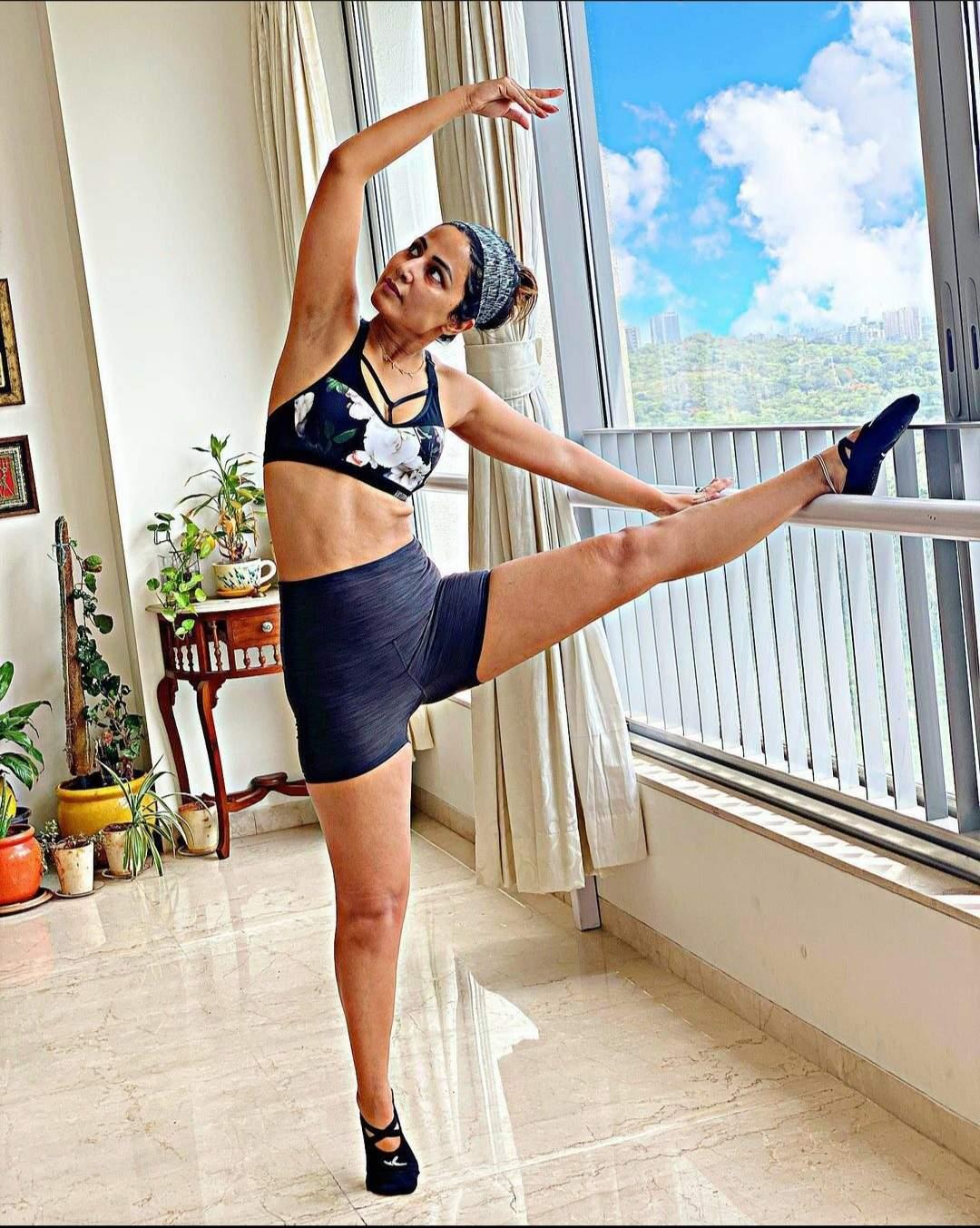 Hina Khan Reveals Strengthen of Yoga