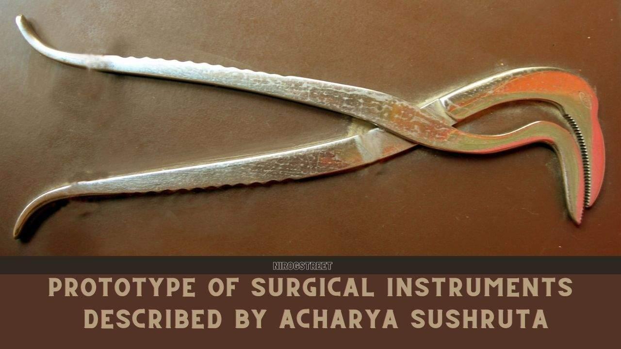 आचार्य सुश्रुत द्वारा वर्णित सर्जरी के उपकरणों की प्रतिकृति