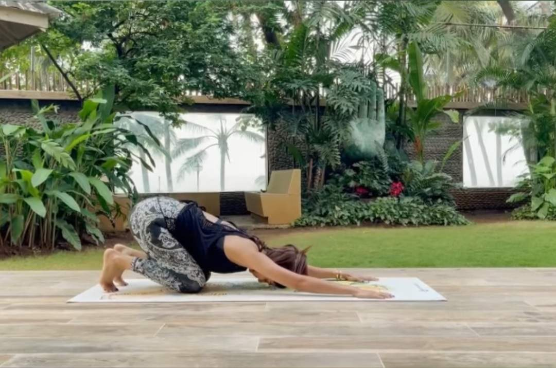 Shilpa Shetty: Today began with Eka Pada Dhanurasana