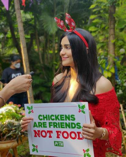 Adah Sharma Throws a Christmas Party For Chickens, Urges People to Turn Vegetarian