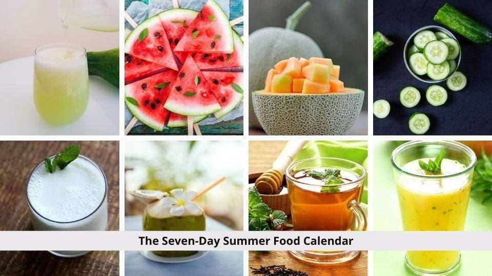 Summer Food Calendar
