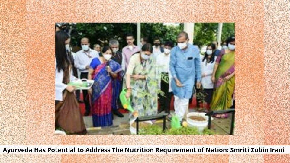 Nutrition Requirement of Nation Smriti Zubin Irani