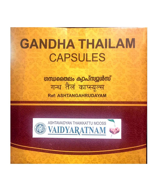 Vaidyaratnam - Gandha Tailam Soft Gel Capsules