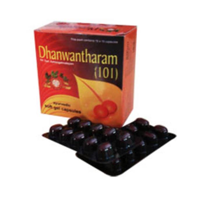 Vaidyaratnam - 101 Dhanwantharam Soft Gel Capsule