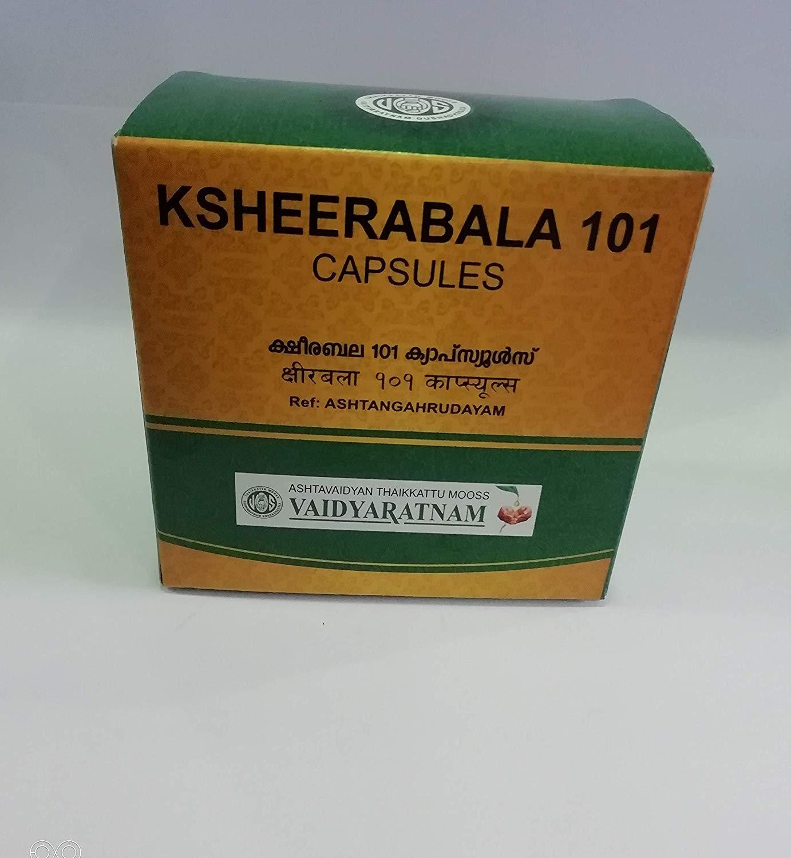 Vaidyaratnam - 101 Ksheerabala Soft Gel Capsule