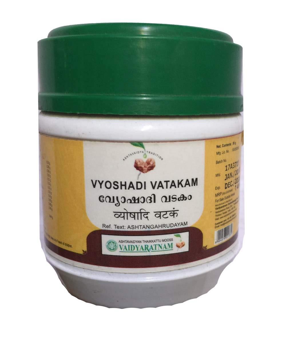 Vaidyaratnam - Vyoshadi vatakam