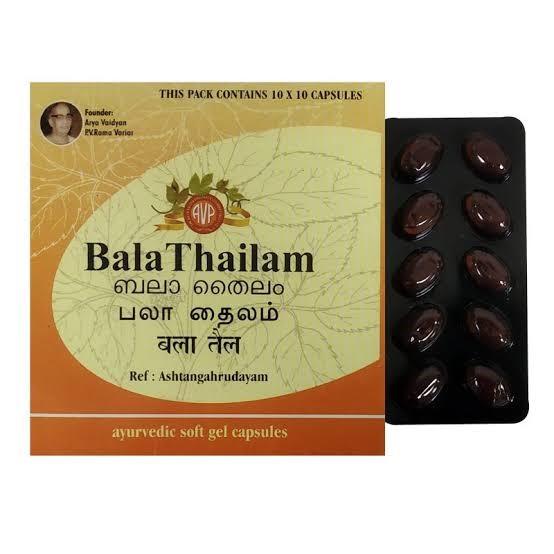 Arya Vaidya Pharmacy - Bala Thailam Gel Capsule