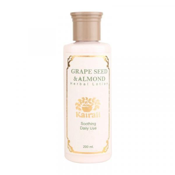 Kairali - Grape Seed & Almond Herbal Lotion (Herbal Body Moisturizing Lotion for Silky)