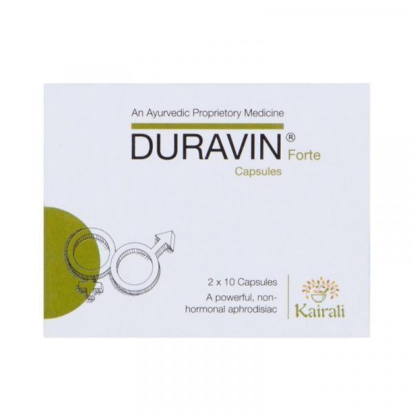 Kairali - Duravin Forte Capsules (Ayurvedic Medicine for Impotency & Infertility for Women and Men)