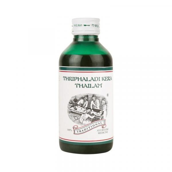 Kairali - Thriphaladi Kera Thailam (Ayurvedic Head Massage Oil for Headache, Hair Fall & Grey Hair)