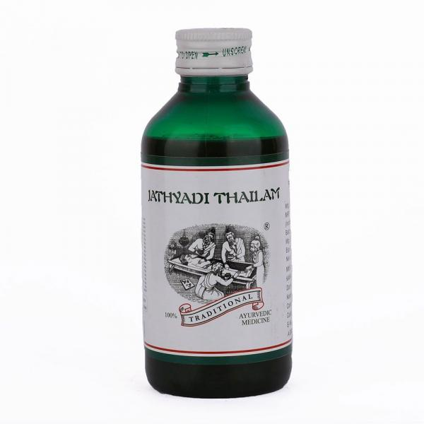 Kairali - Jathyadi Thailam (Ayurvedic Medicated Oil to Treat Burns, Non Wounds & Mouth Ulcer)