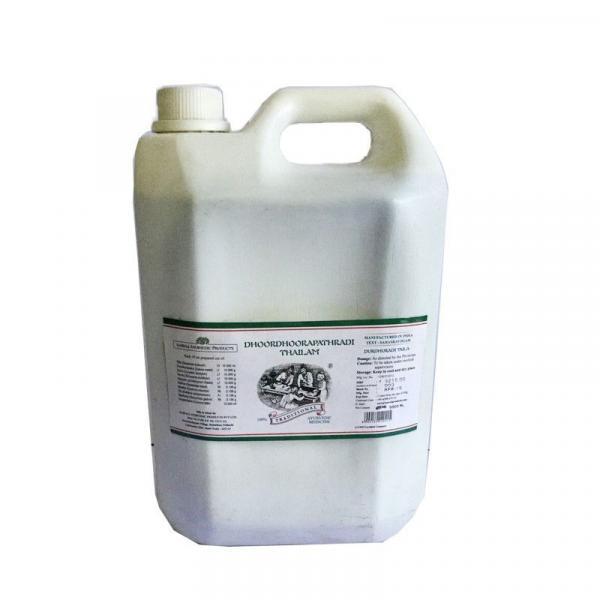 Kairali - Dhoordhoorapathradi Thaialm (Ayurvedic Oil for Scalp Nourishment & Hair Strengthening)