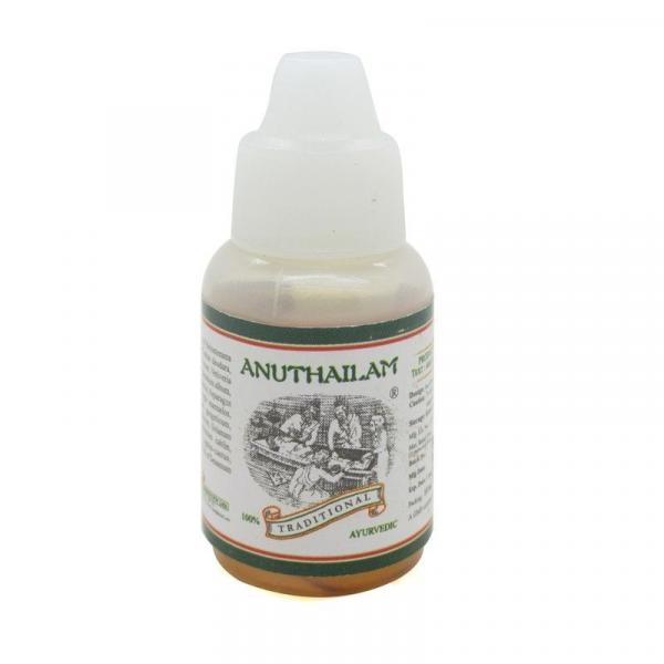 Kairali - Anu Thailam (Ayurvedic Nasya Oil for Sinusitis, Migraine & Nervous Disorders)