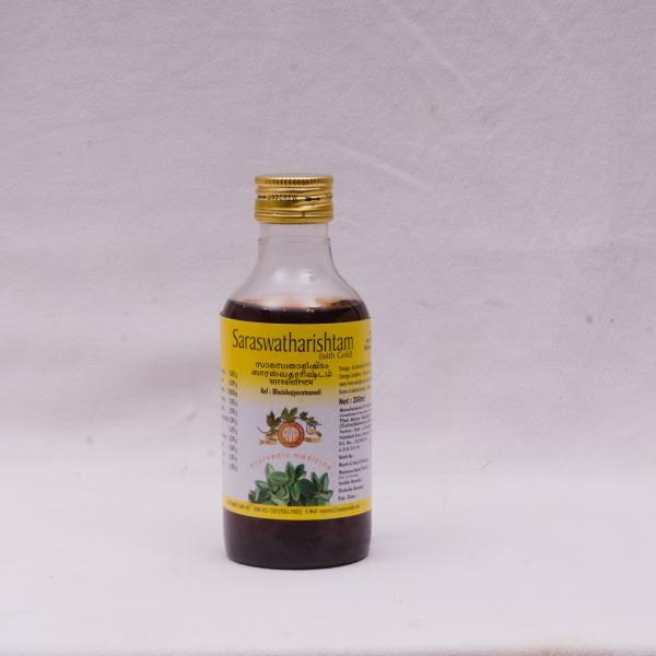 Arya Vaidya Pharmacy - Saraswatharishtam with Gold