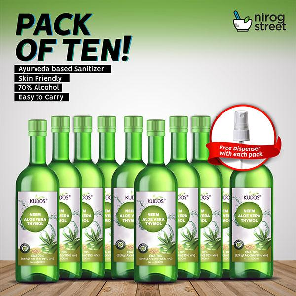 Kudos Hand Sanitizer ( Pack of 10)