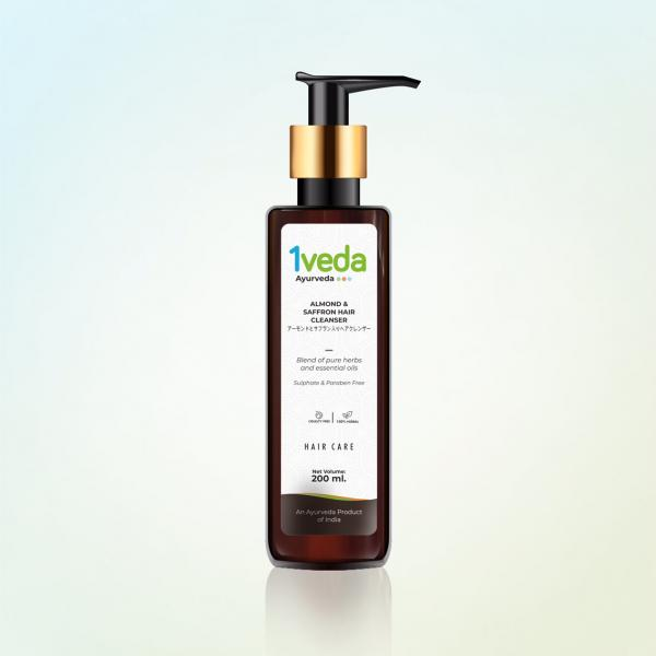 1Veda - Almond and Saffron Hair Cleanser