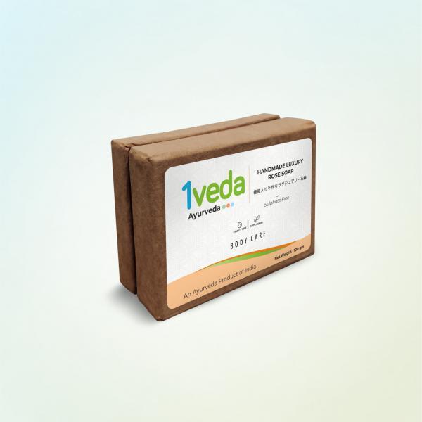 1Veda - Homemade Luxury Rose Soap
