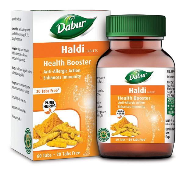 Dabur - Haldi Tablet - Health Booster (60 + 20 Tablets Free)
