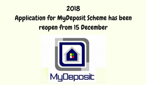 2018 application for MyDeposit Scheme has been reopen from 15 December 1