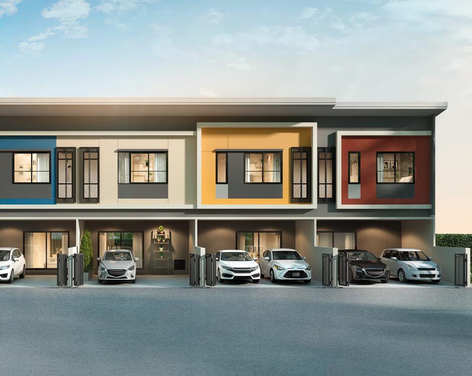 โครงการบ้านทาวน์โฮม Townhome ทาวน์เฮ้าส์ สิริ เพลส ประชาอุทิศ 90 (Siri Place Prachauthit 90)