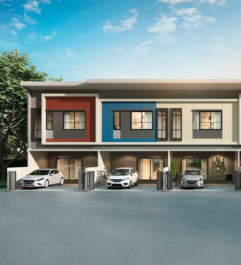 โครงการบ้านทาวน์โฮม Townhome ทาวน์เฮ้าส์ สิริ เพลส ราชพฤกษ์ - พระราม 5 (Siri Place Ratchapruek Rama 5)