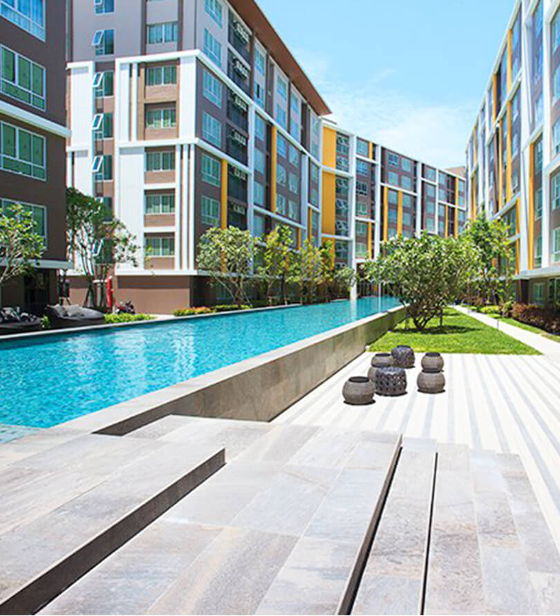 โครงการคอนโดมิเนียม ดีคอนโด แคมปัส รีสอร์ท บางแสน (dcondo campus resort Bangsaen)