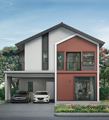 แบบบ้านสวย แบบบ้านสไตล์โมเดิร์น Lomma (ลอมมา) แบบบ้านครอบครัวเล็ก เรือนหอ