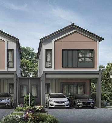 แบบบ้านสวย แบบบ้านสไตล์โมเดิร์น คาเมเลีย (Camellia) แบบบ้านครอบครัวเล็ก เรือนหอ