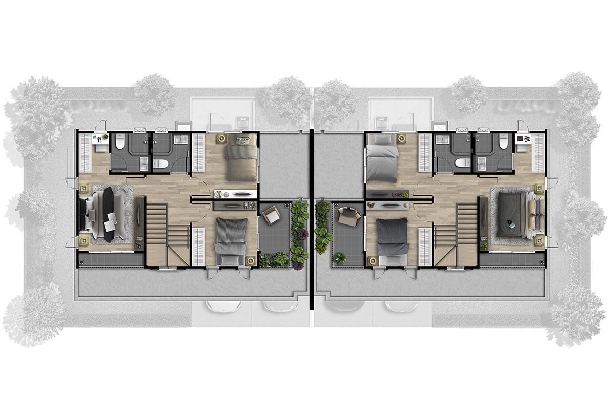 แบบบ้านสวย แบบบ้านสไตล์รีสอร์ท Quinoa แบบบ้านครอบครัวใหญ่ แบบบ้านเพื่อผู้สูงอายุ