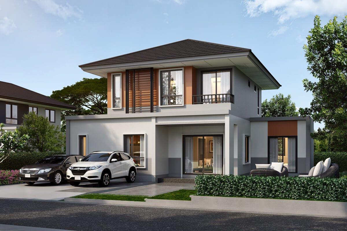 แบบบ้านสวย แบบบ้านสไตล์โมเดิร์น GASKET แบบบ้านเพื่อผู้สูงอายุ