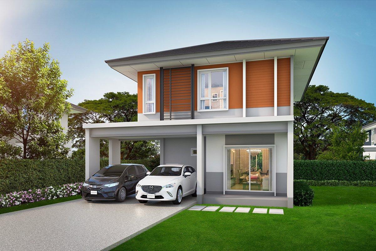 แบบบ้านสวย แบบบ้านสไตล์โมเดิร์น หอมมะลิ156 แบบบ้านเพื่อผู้สูงอายุ