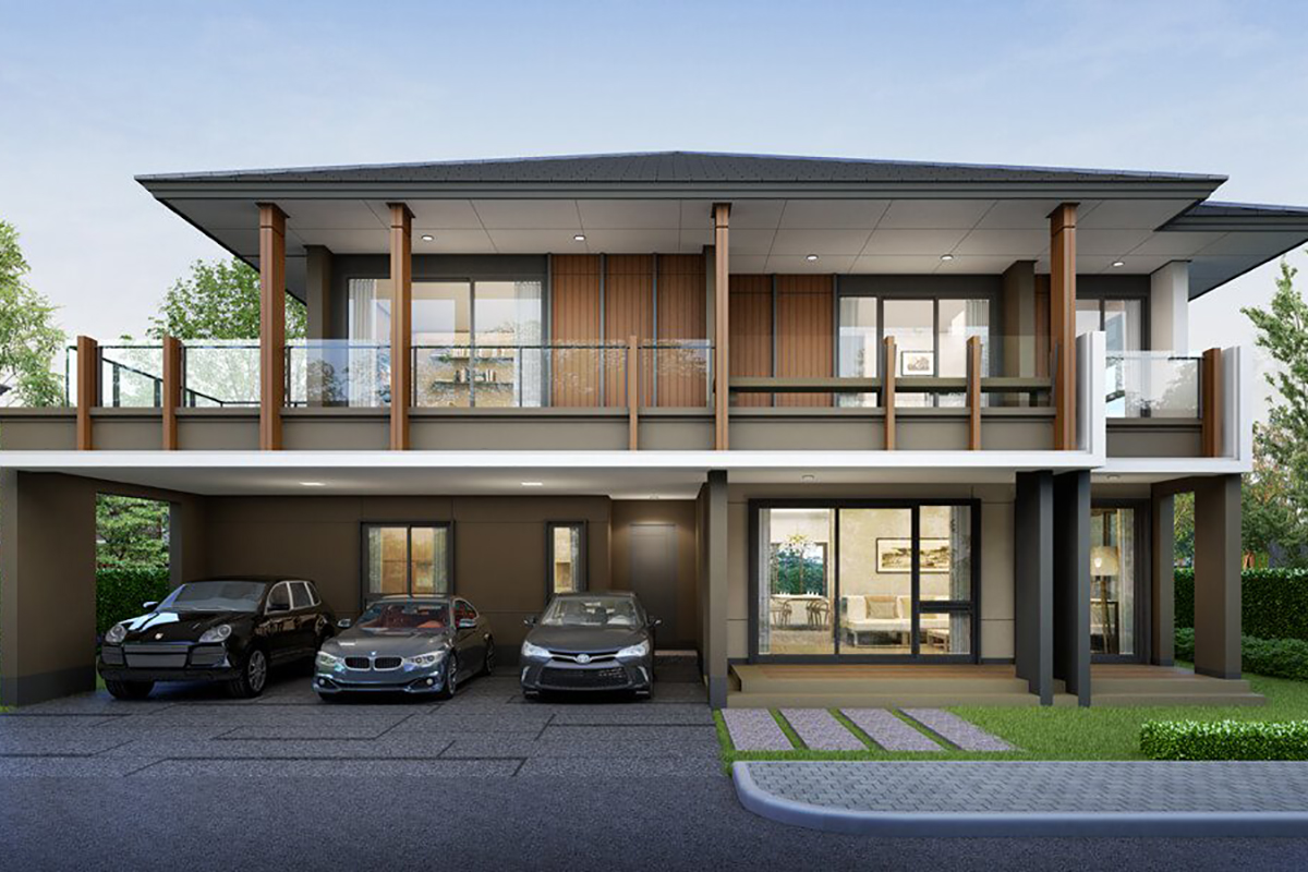 แบบบ้านสวย แบบบ้านสไตล์รีสอร์ท เรือนนิมมานรดี แบบบ้านครอบครัวใหญ่ แบบบ้านเพื่อผู้สูงอายุ