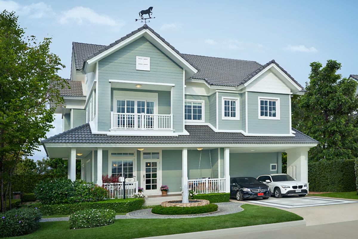 แบบบ้านสวย แบบบ้านสไตล์รีสอร์ท Charleston แบบบ้านครอบครัวใหญ่