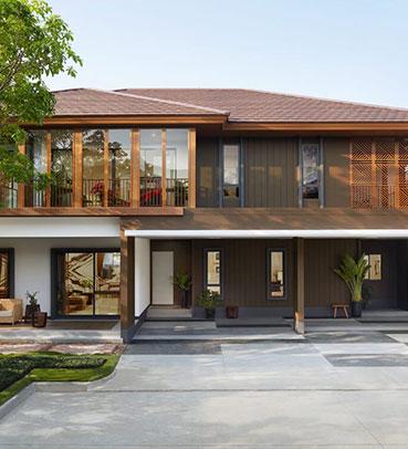 แบบบ้านสวย แบบบ้านสไตล์รีสอร์ท Amanwana แบบบ้านเพื่อผู้สูงอายุ แบบบ้านครอบครัวใหญ่