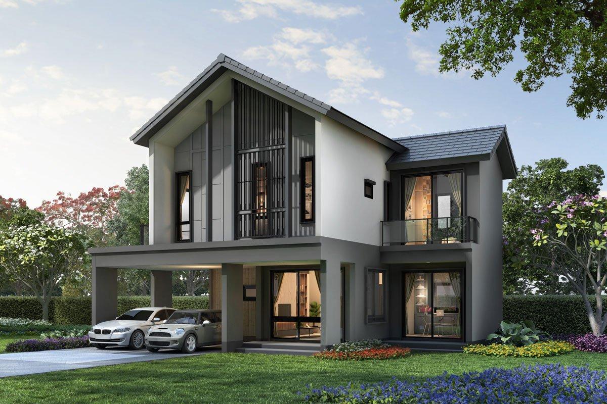แบบบ้านสวย แบบบ้านสไตล์โมเดิร์น TARYN แบบบ้านครอบครัวใหญ่ แบบบ้านเพื่อผู้สูงอายุ