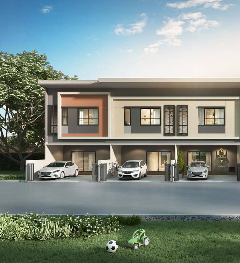 โครงการบ้านทาวน์โฮม Townhome ทาวน์เฮ้าส์ สิริ เพลส บางใหญ่ (Siri Place Bangyai)