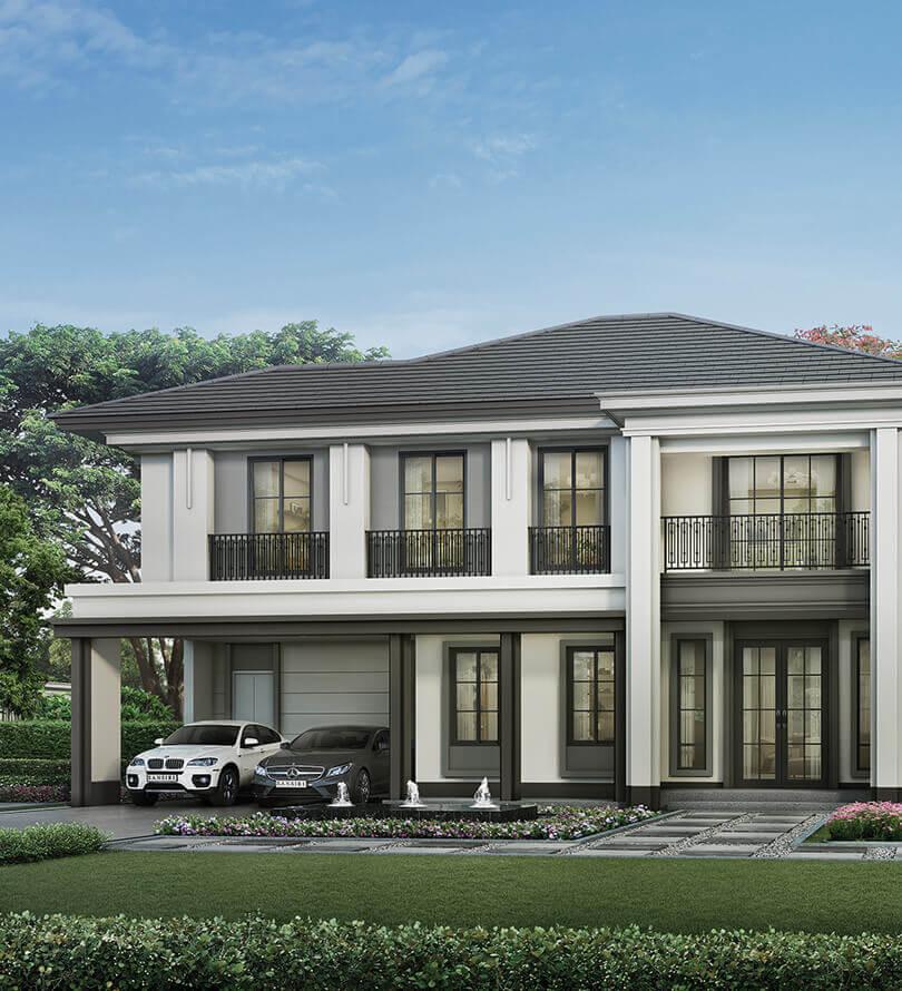 โครงการบ้านเดี่ยว บ้านจัดสรร เศรษฐสิริ กรุงเทพ - ปทุมธานี (Setthasiri Krungthep - Pathumthani)