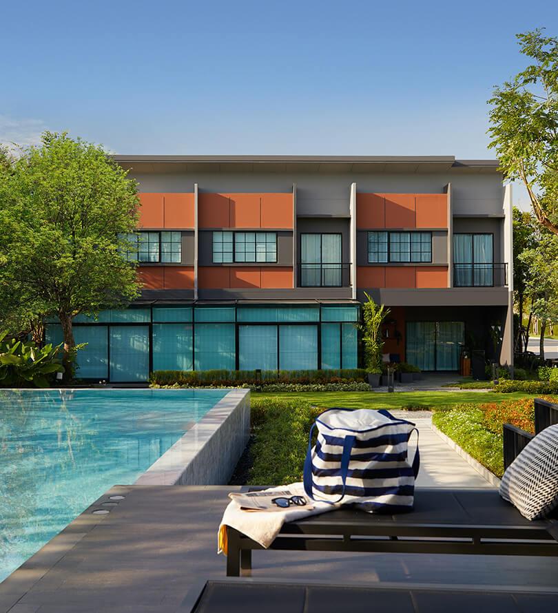 โครงการบ้านทาวน์โฮม Townhome ทาวน์เฮ้าส์ สิริ เพลส จรัญ-ปิ่นเกล้า (Siri Place Charan - Pinklao)