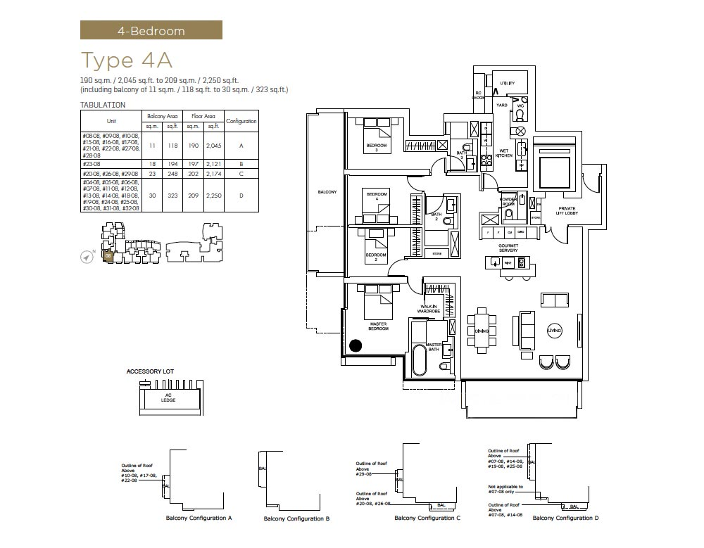 Marine One Residences - 4bed Floorplan